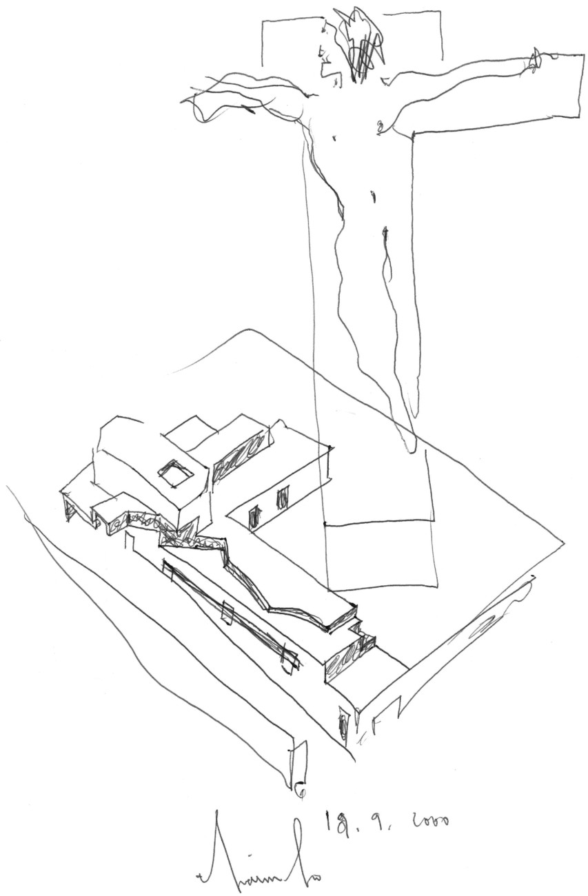 House in Francelos, Drawing by Álvaro Leite Siza (2000)