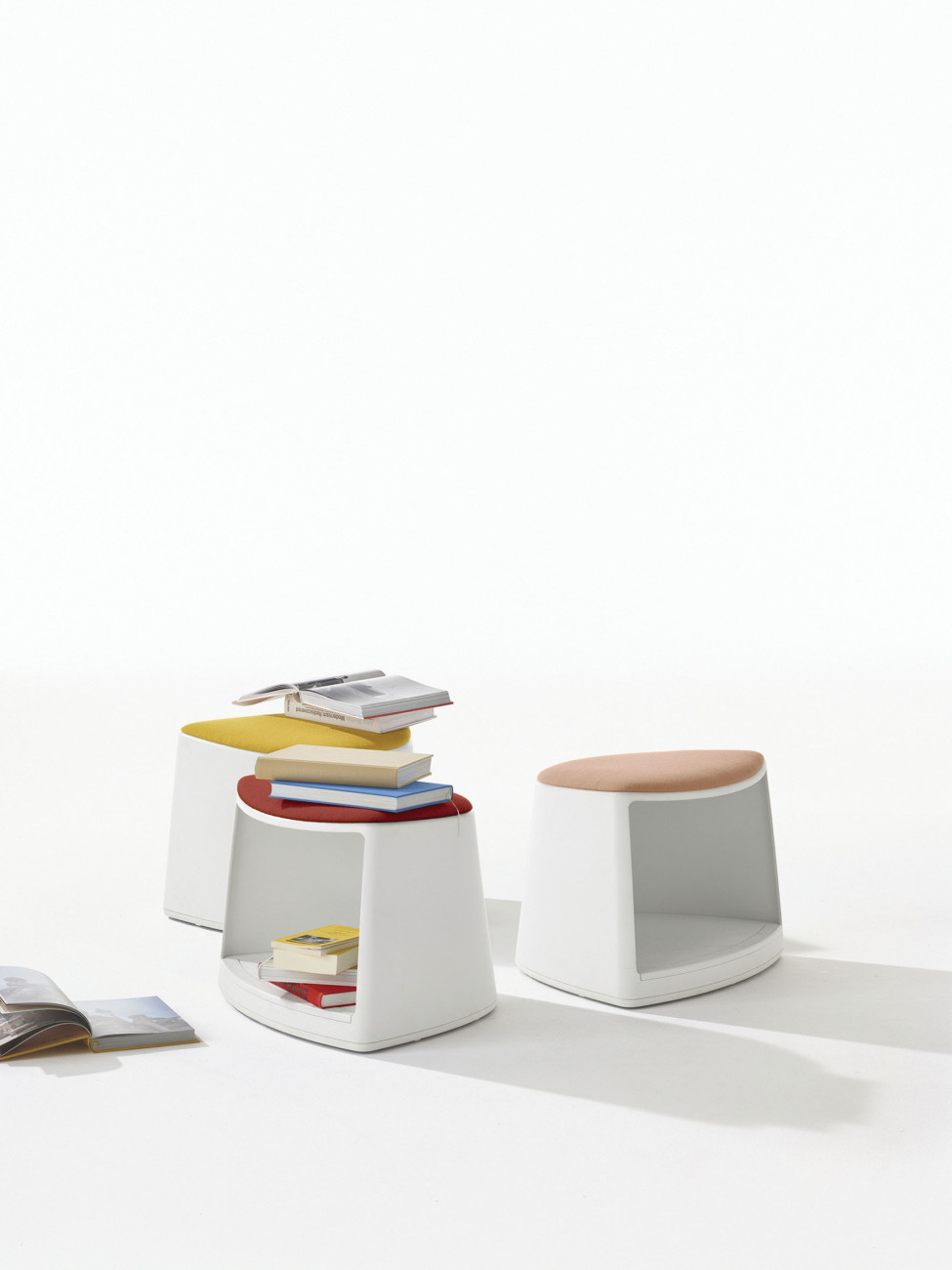 "Arper - Cila Go  With the multifunctional seating and storage furniture ""Cila Go"" by Arper, Lievore Altherr playfully reference the plastic furniture of the 1960s and 1970s."