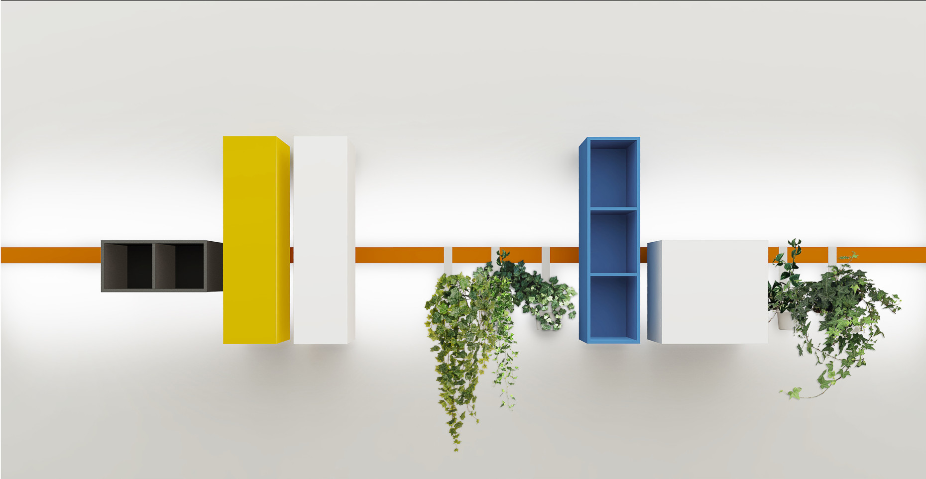 "DVO has added elegant standing and wall-mounted storage elements to the office series ""Milo"" by Enzo Berti."