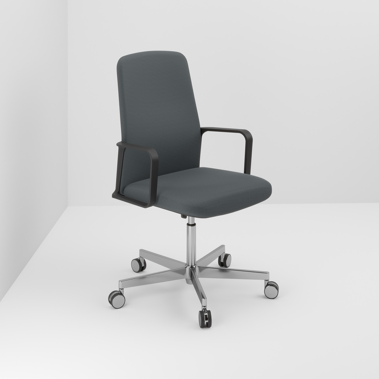"Pedrali's ""Temps,"" designed by Jorge Pensi, is the first office swivel chair by the Italian manufacturer and makes a good impression with its unobtrusive and modern formal language."
