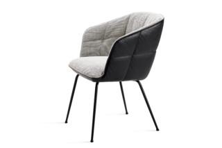 Marla armchair high 4-leg steel frame tapered  by  Freifrau