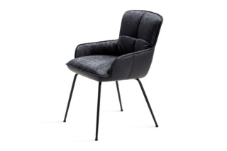 Marla armchair low 4-leg steel frame tapered  by  Freifrau