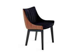 Rubie armchair low with wooden 4-leg frame  by  Freifrau