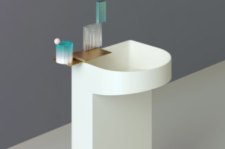 SaphirKeramik Sonar Floorstanding washbasin  by  Laufen