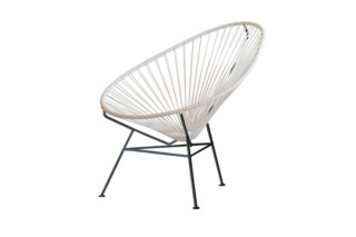 Acapulco Chair Classic Blanco-Negro  by  ACAPULCO DESIGN