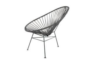 Acapulco Chair Leather Negro  by  ACAPULCO DESIGN
