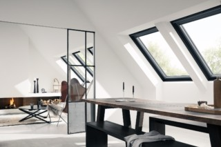 "Centre pivot roof window ""GGU Black""  by  VELUX"