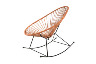 Acapulco Chair Rocking Leder Cognac  von  ACAPULCO DESIGN