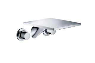 Axor Massaud 3-hole basin mixer for concealed installation with spout 262 mm wall-mounted  by  AXOR