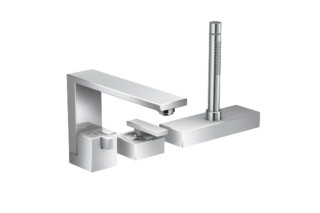 Axor Edge 3-hole rim mounted single lever bath mixer  by  Axor