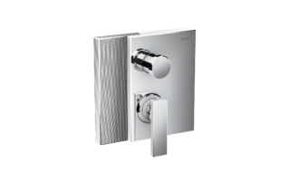 Axor Edge Single lever bath mixer for concealed installation with integrated security combination according to EN1717 - diamond cut  by  AXOR