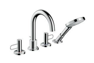 Axor Uno 4-hole rim mounted bath mixer loop handle  by  Axor