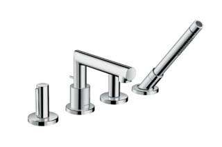 Axor Uno 4-hole rim-mounted bath mixer, zero handle  by  Axor