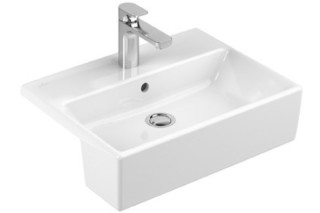 Semi-recessed washbasin Memento  by  Villeroy&Boch Bath&Wellness