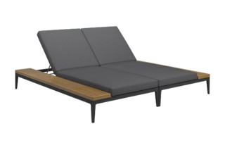 Grid Double Lounger Unit  by  Gloster Furniture
