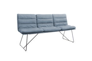 Arva Bank bench with backrest  by  KFF