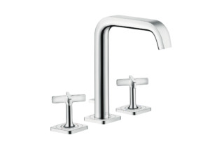 Axor Citterio E 3-hole basin mixer 170 with pop-up waste set and escutcheons  by  Axor