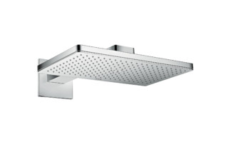 Axor Overhead shower 460/300 1jet with shower arm and square escutcheons  by  AXOR