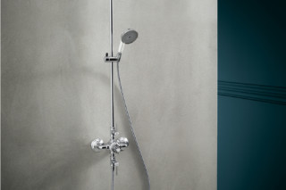 Axor Montreux Showerpipe with thermostat, with lever handles  by  Axor
