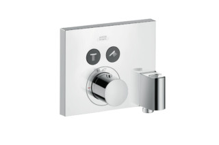 Axor thermostatic mixer for 2 outlets with FixFit and porter unit for concealed installation  by  AXOR