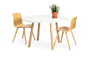 Alku conference table wooden legs  by  Martela