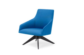 Alya lounge chair with wood base low back  by  Andreu World