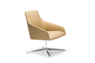 Alya lounge chair with four-star swivel base low back  by  Andreu World
