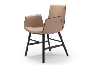Amelie armchair with wooden frame round  by  Freifrau