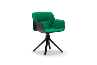 Nuez Chair wooden swivel base  by  Andreu World