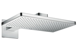 Axor overhead shower 460 / 300 1jet with shower arm and square escutcheons  by  Axor