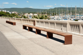 Manta bench without back rest  by  CYRIA