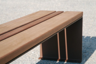 Pysa bench without back rest  by  CYRIA