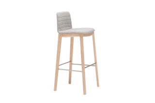 Flex stool with wood base  by  Andreu World