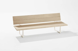 New Wood Plan bench with backrest  by  Fast