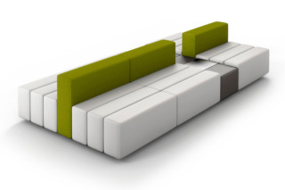 CL classic sofa with tray table  by  modul 21