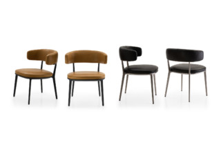 CARATOS chair with armrests  by  Maxalto