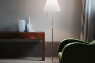 Costanza Brass floor lamp  by  Luceplan