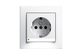 E2 Socket with LED-Navigationlight  by  Gira