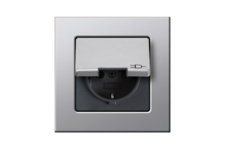 E22 socket with hinged cover  by  Gira