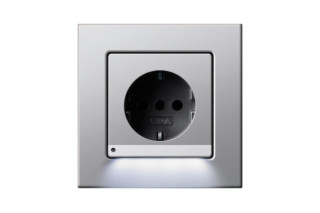 E22 socket with orientation light  by  Gira