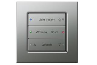 E22 push button sensor comfort 3, 3-gang  by  Gira