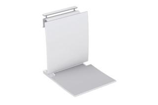 Einhängesitz Sitzfläche und Rückenlehne in Weiß  von  HEWI