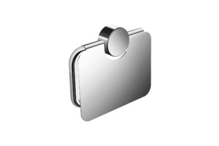 Toilet roll holder with cover finish - chrome  by  HEWI