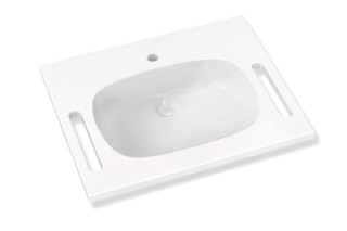 Washbasin prepared for single hole mixer tap  by  HEWI