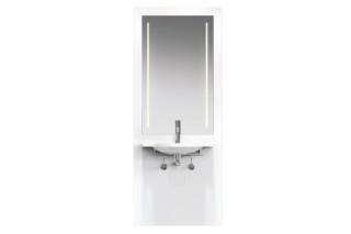 Waschtisch-Modul Weiß, Waschtisch 950.11.121, LED-Lichtspiegel  von  HEWI