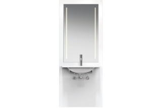 Washbasin module White, washbasin M40.11.501, LED  by  HEWI