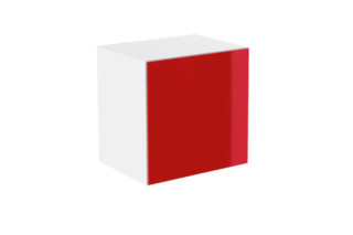 Basic module glass front red  by  HEWI