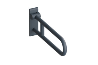 Hinged support rail, rotatable  by  HEWI