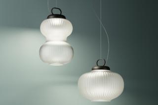 Kanji pendant lamp  by  FontanaArte