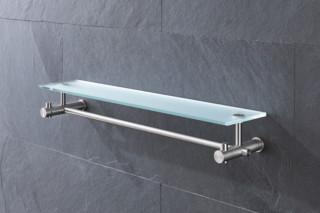 Towel rail with glass shelf G9-500G  by  PHOS